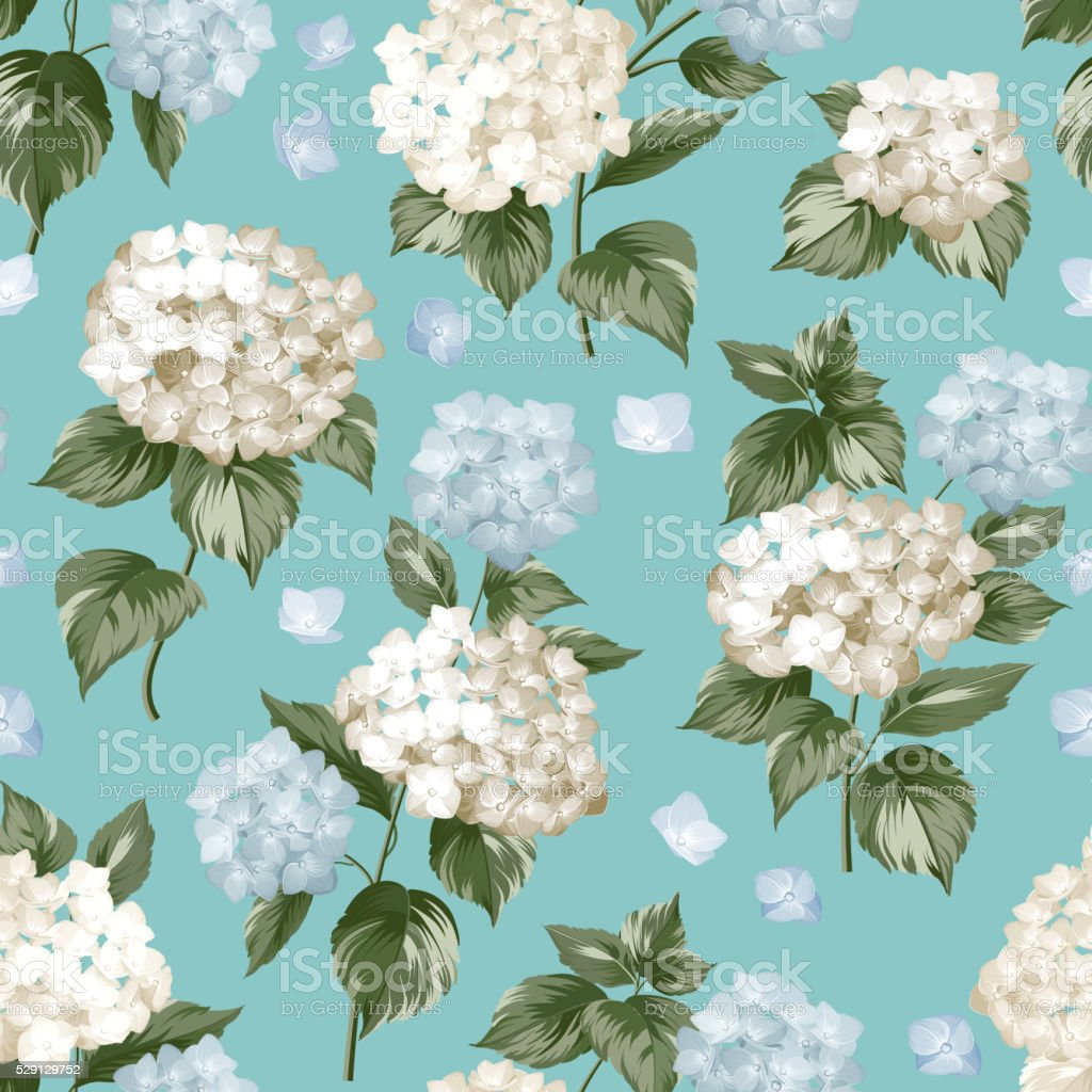 White flowers pattern vector art illustration