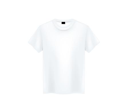 White folded pole shirt mockup isolated.
