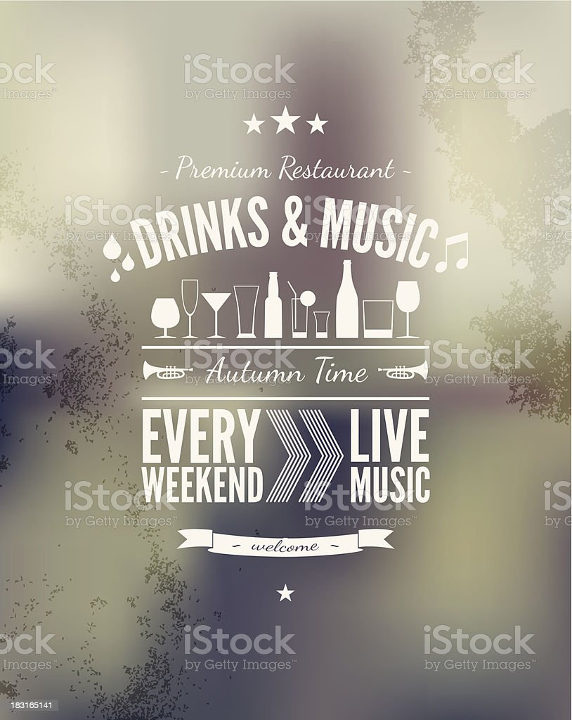 White fond on a poster with bokeh background vector art illustration
