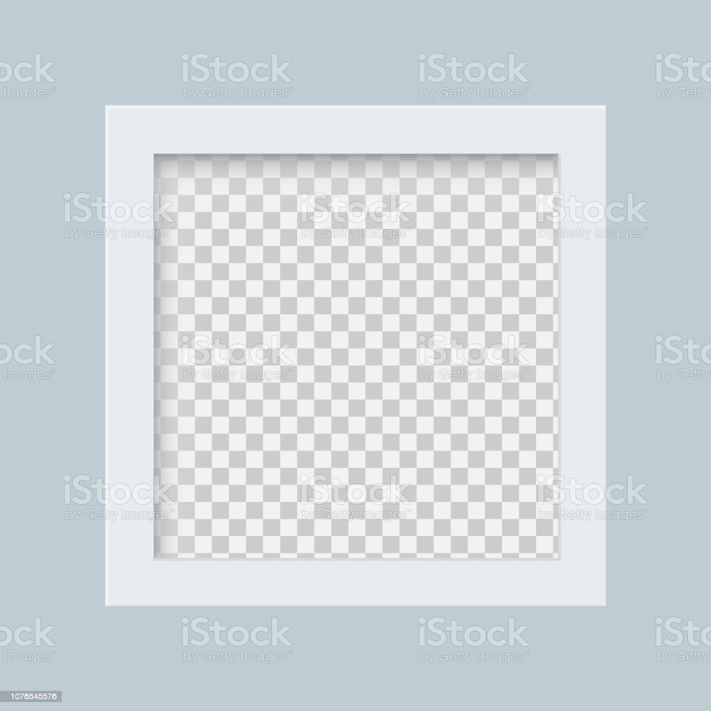 White Frame With A Transparent Background Blank Photo Frame Design