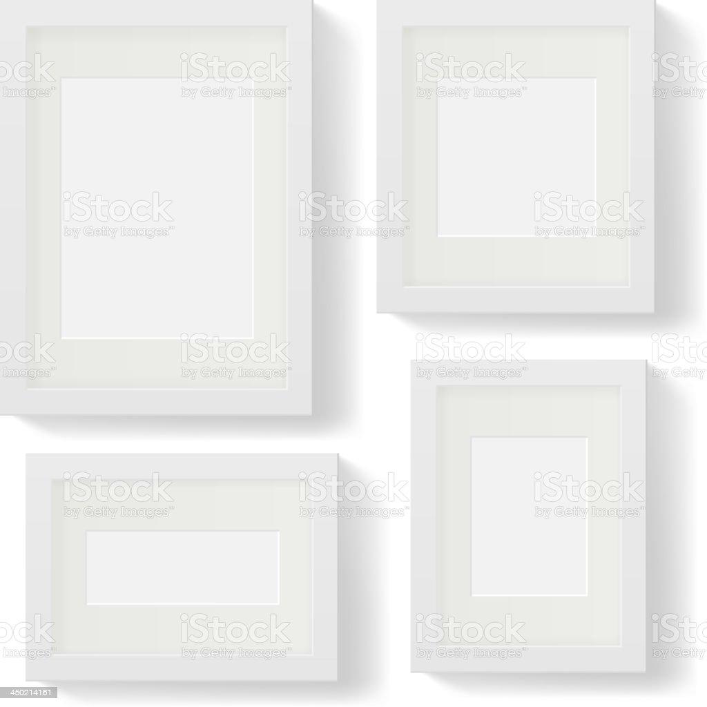 White frames royalty-free stock vector art