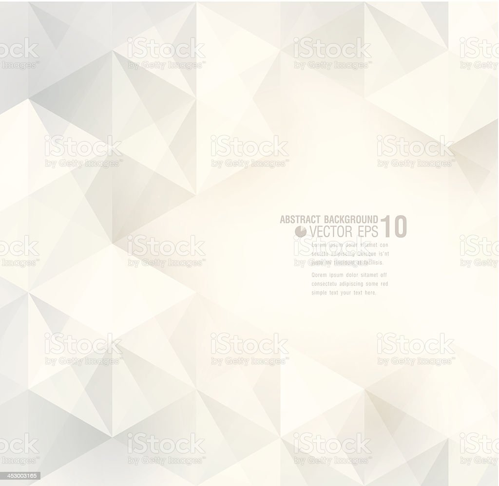 White geometric background. vector art illustration