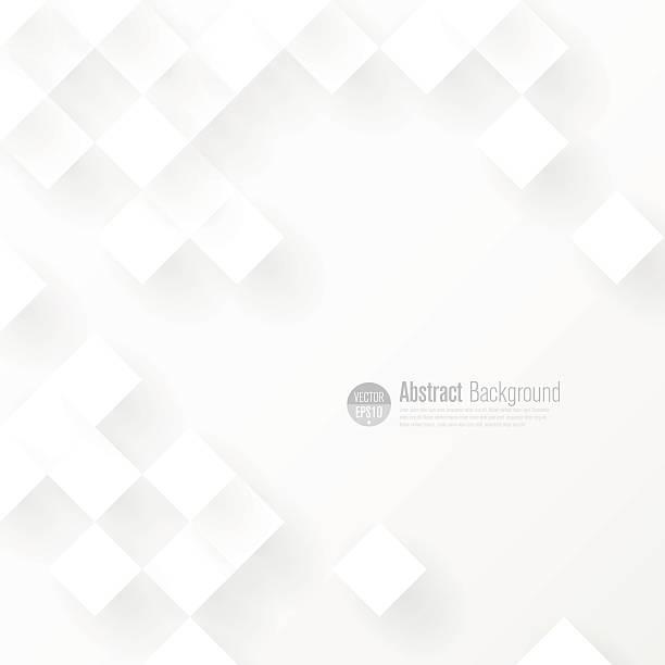 White geometric background. vector art illustration