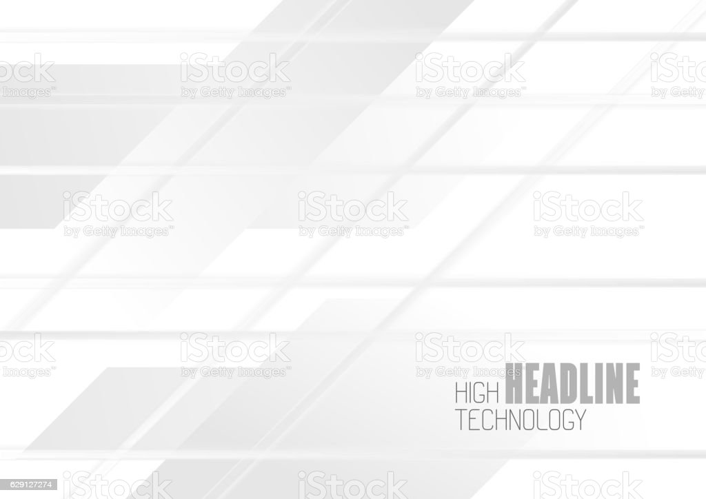White geometric technology abstract background vector art illustration
