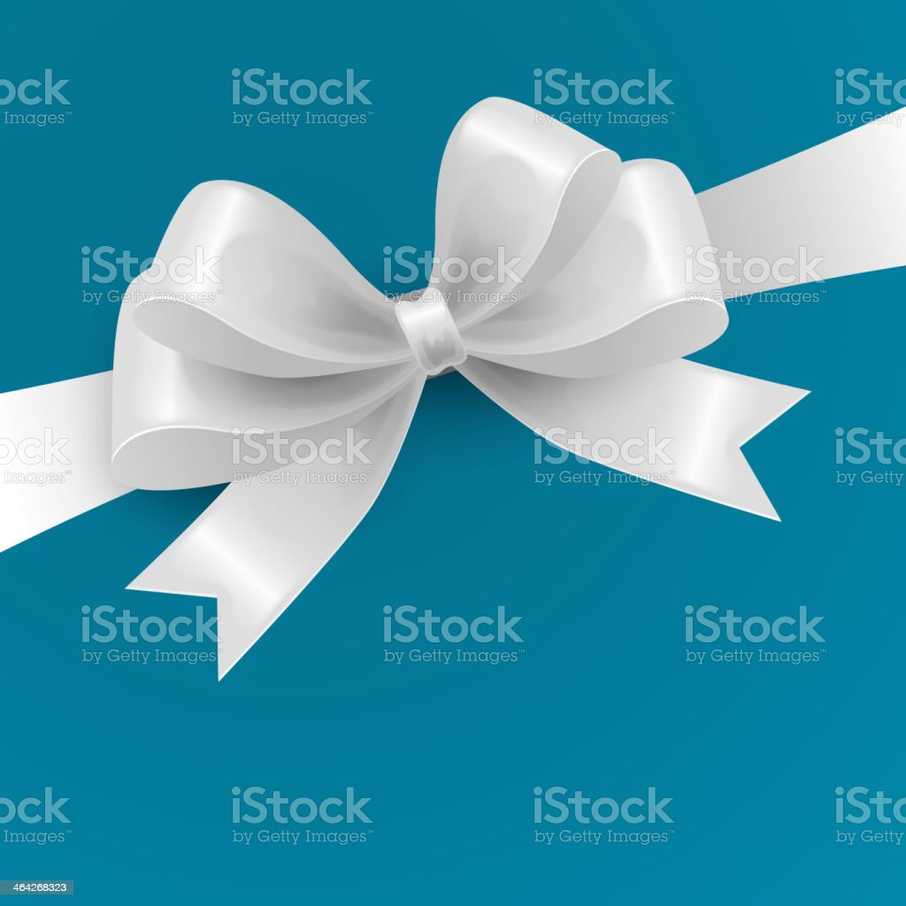 White Gift Bow. Vector illustration vector art illustration