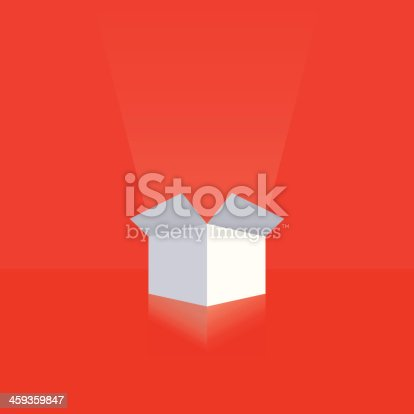 White gift box ready for your text
