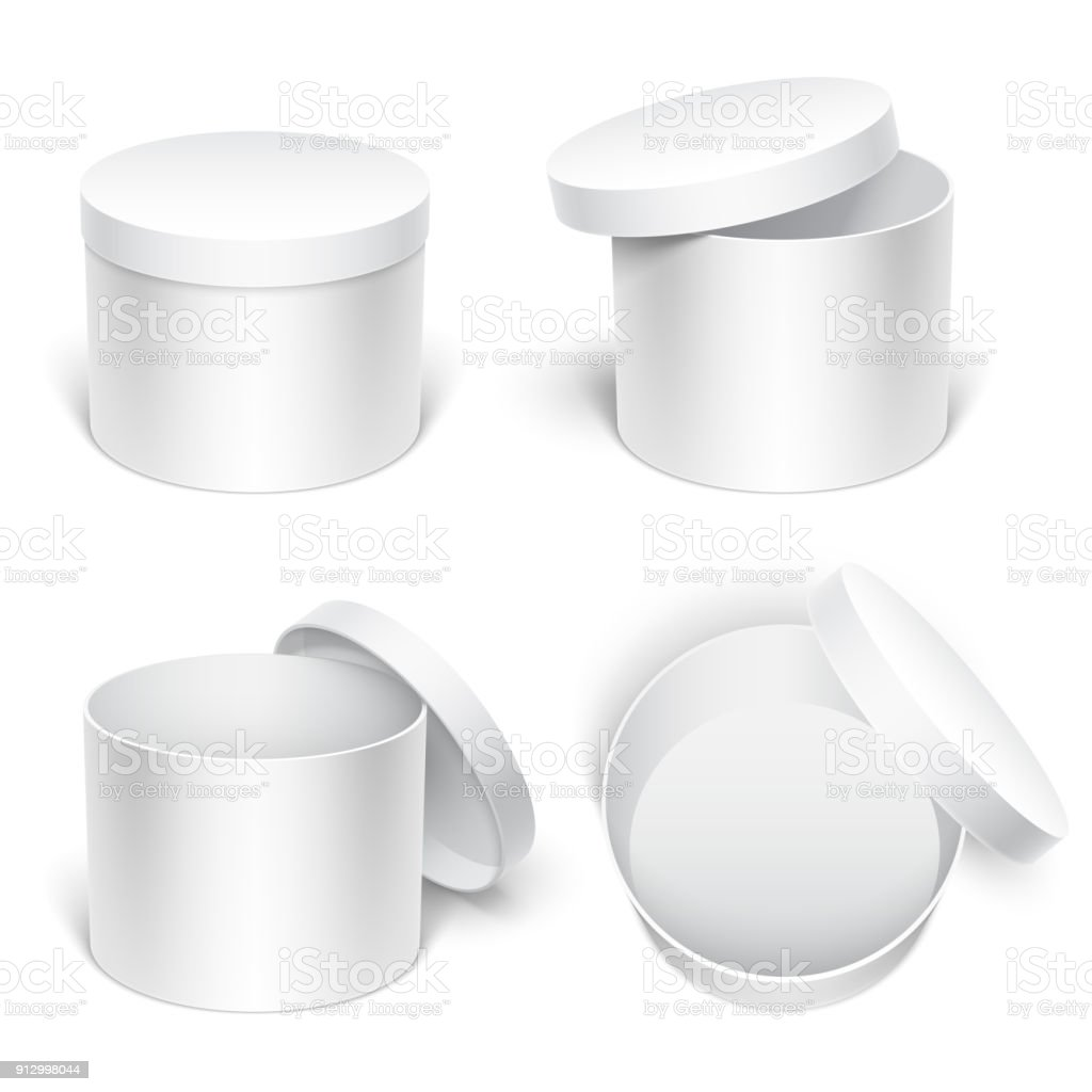 White Gift Boxes Stock Illustration Download Image Now