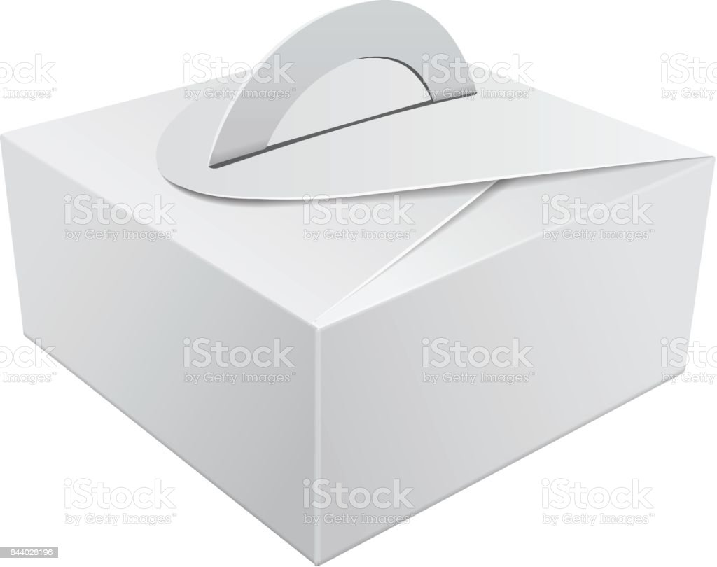 wedding cake box design vector white gift packaging box with handle mockup for cake 22061