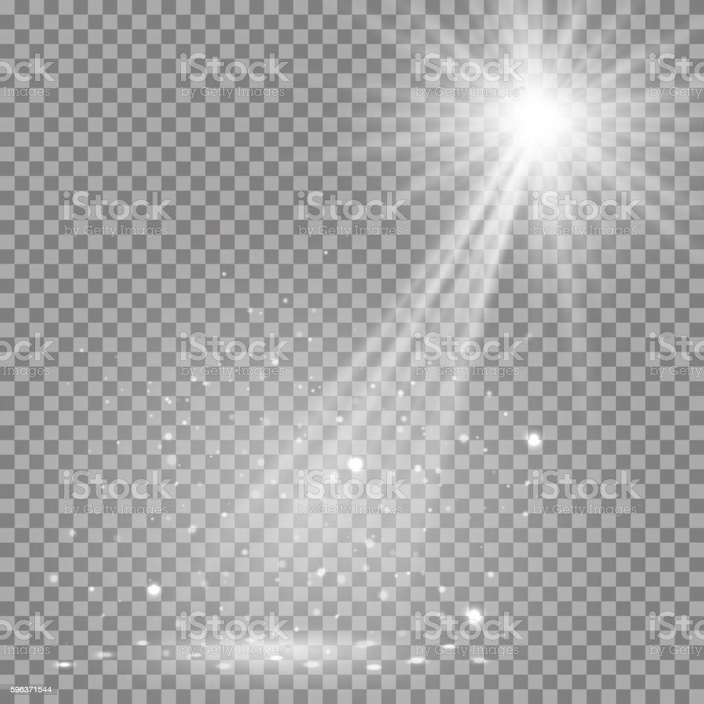 Disco lights white background