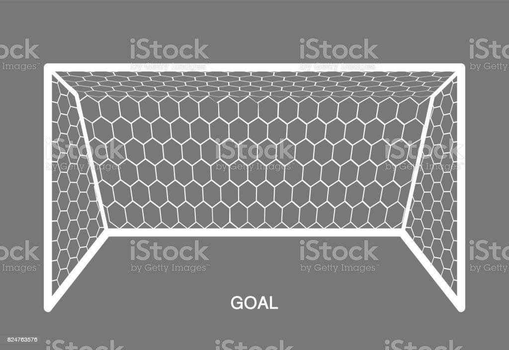 Blanco objetivo, elemento de fútbol. - ilustración de arte vectorial
