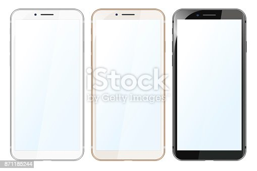 White, Gold and Black Modern Smartphones