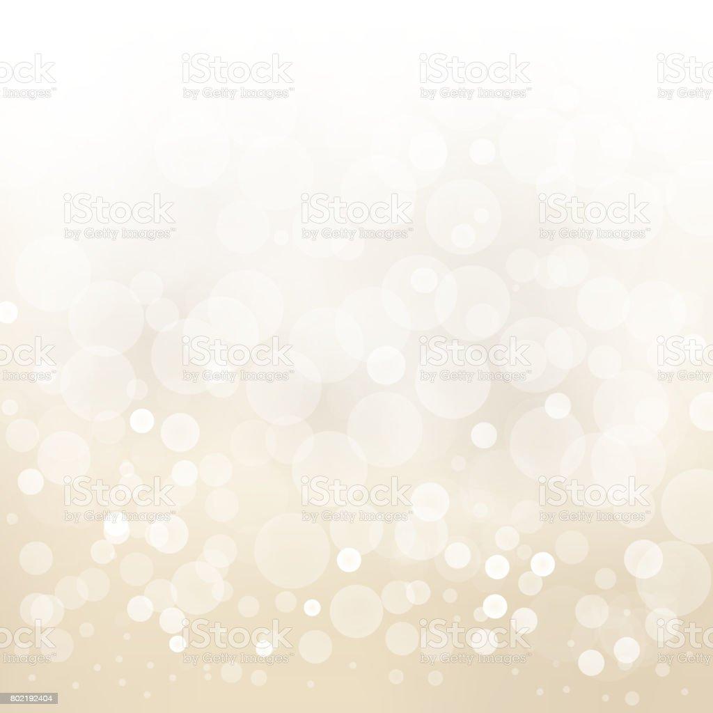 ホワイトゴールド光抽象デザイン背景ぼかし円ボケ。 ベクターアートイラスト