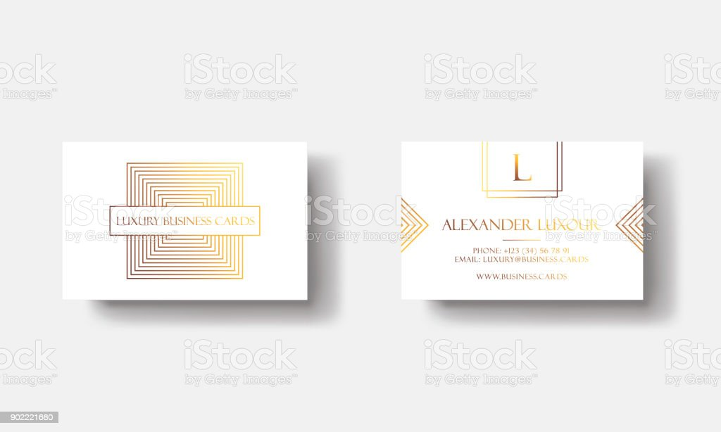 White Gold Luxury Business Cards For Vip Event Elegant Greeting Card ...