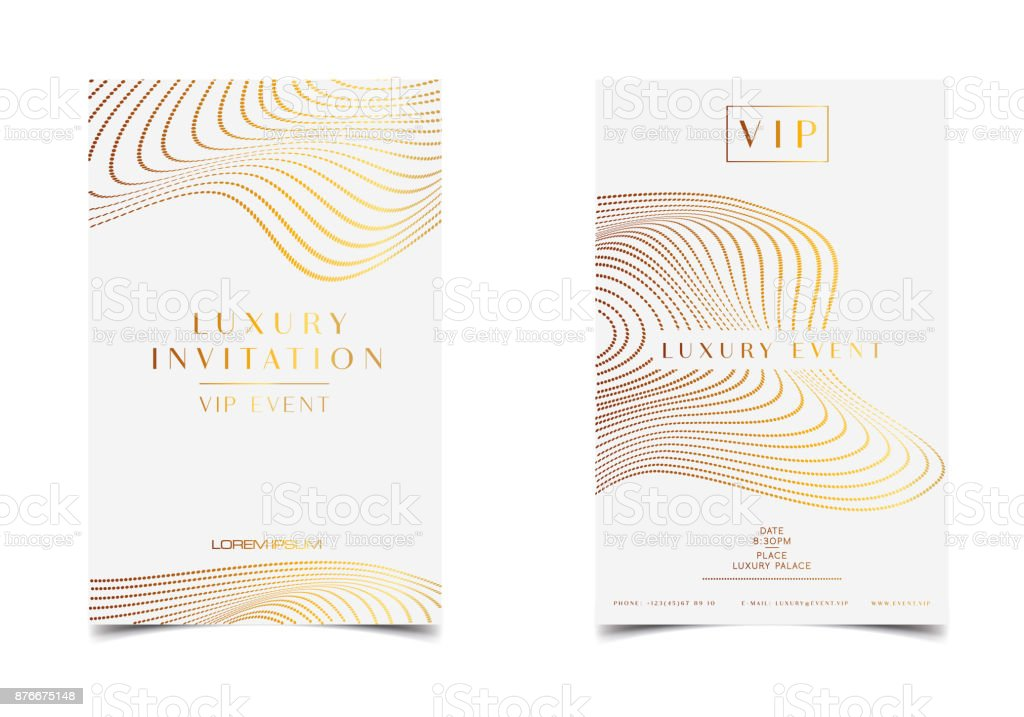 Ilustración De Invitación De Lujo De Oro Blanco Para Evento