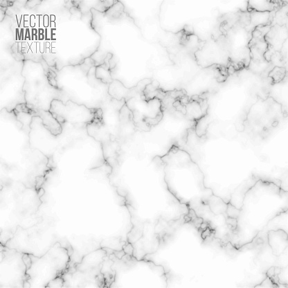 White, gray and black marble pattern background. Abstract texture vector illustration. Grey granite tile for kitchen, floor, wall. Smooth minimal stone design template