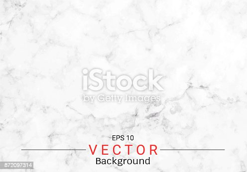 istock White gray marble texture, Vector pattern background, Can be used to create surface effect for your design product such as background of various greeting cards or architectural and decorative. 872097314