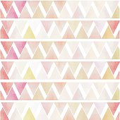 white green pink red triangle geometric seamless vintage style f