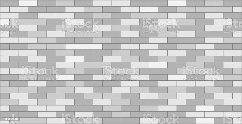 White grey brick wall graphic design - ilustração de arte vetorial