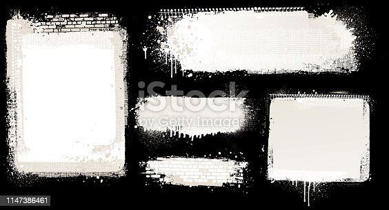 Modern white grunge abstract vector backgrounds