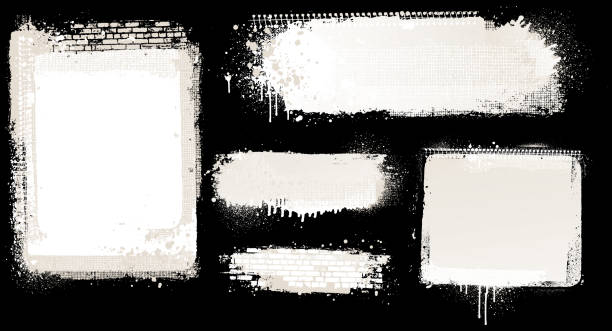 white grunge backgrounds Modern white grunge abstract vector backgrounds street art stock illustrations