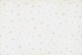 White grunge Vector Illustration of a starry party background in Vintage color pale white with silver stars, swirls, stars, confetti all over. No text, no people, very light and faint watermark  objects. Objects scattered randomly over the background. Can be used as a wallpaper, Xmas background, gift wrapping sheet or Birthday or  New Year celebration background.