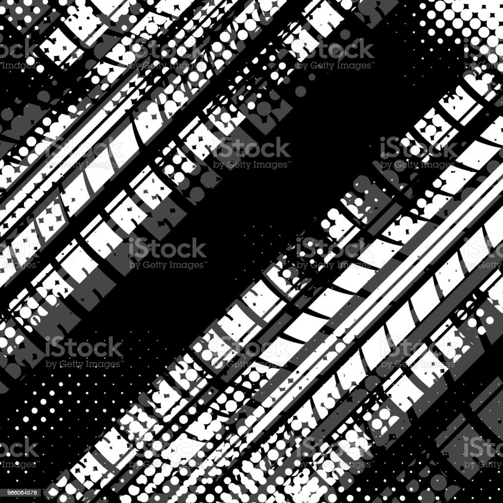 White halftone tire background - Royalty-free Abstract stock vector