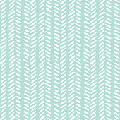 White hand drawn tribal lines and stripes, mimicking folk herringbone stitching on mint background. Vector seamless pattern. Fresh and cute abstract geometric drawing. Summer print. Perfect for textiles, scrapbooking and gift wrapping.