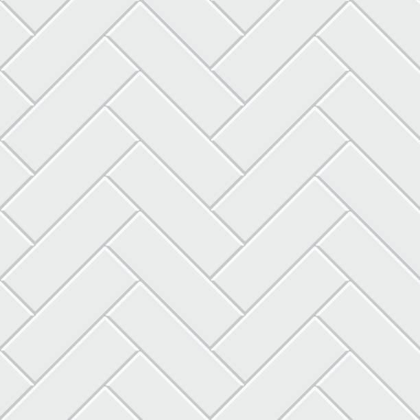 illustrazioni stock, clip art, cartoni animati e icone di tendenza di white herringbone parquet seamless pattern. classic endless floor decoration - zigzag