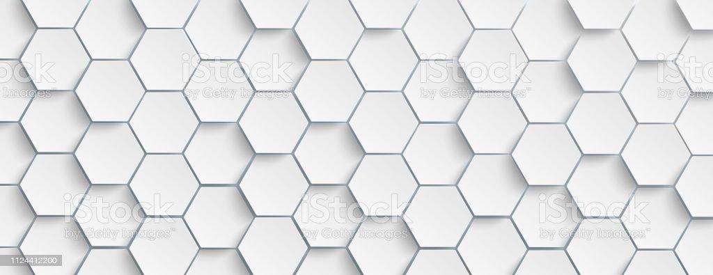 White Hexagon Structure Background Header Stock ...