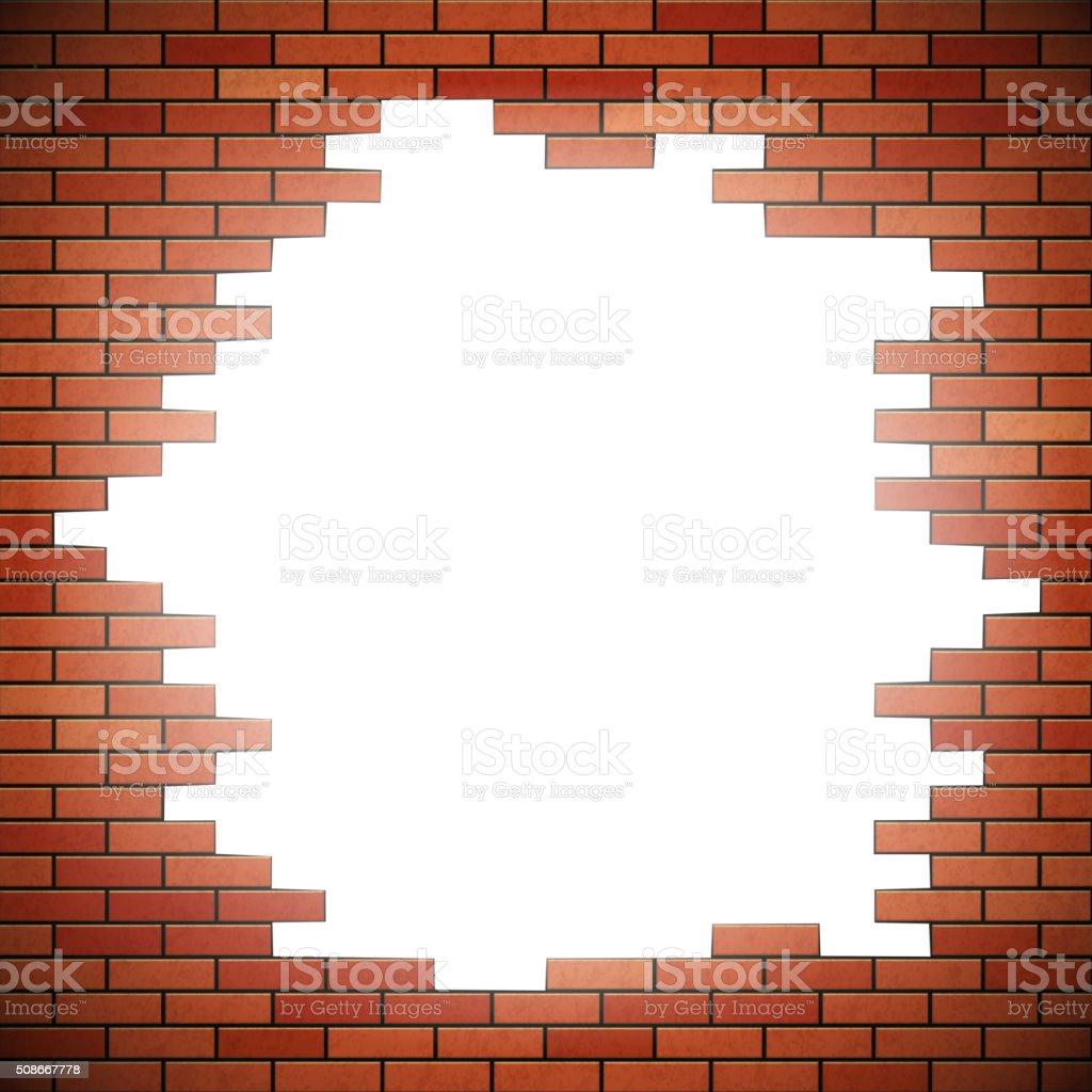 Weißes Loch In Rot Ziegelwand Stock Vektor Art und mehr Bilder von ...