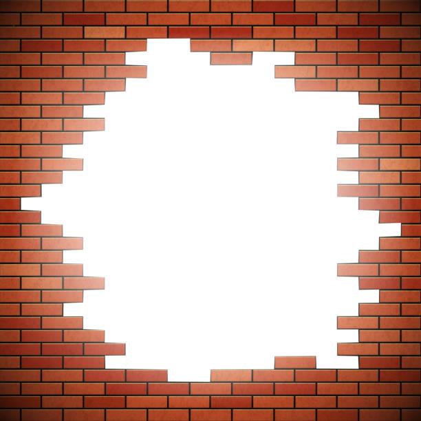 Brick Wall Clip Art: Royalty Free Hole In Brick Wall Clip Art, Vector Images
