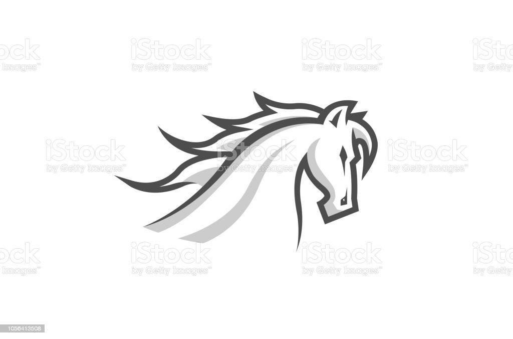 White Horse Logo Stock Illustration Download Image Now Istock