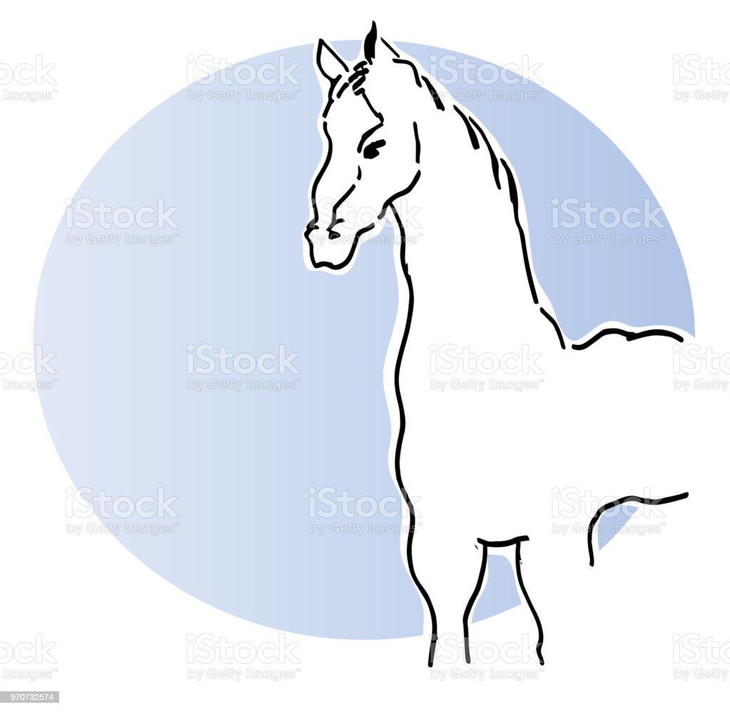 Beyaz atın. royalty-free beyaz atın stok vektör sanatı & abd'nin daha fazla görseli