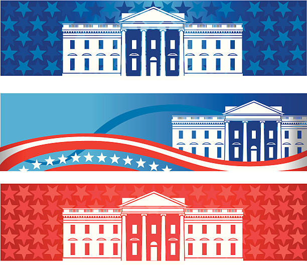 white house banners - white house stock illustrations
