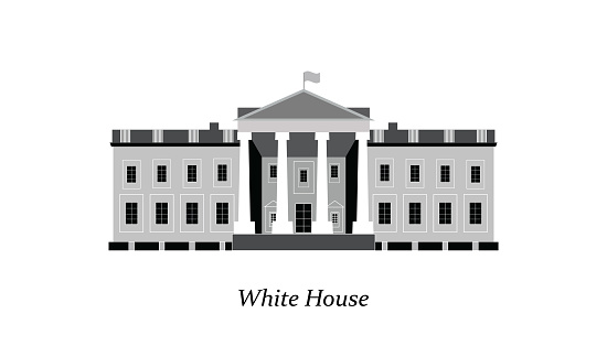 White House facade.