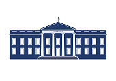 WhiteHouse Federal Building Logo Illustration