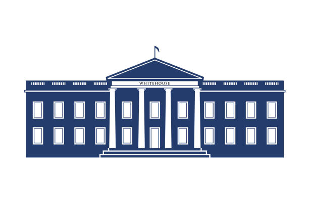 White House Federal Building Logo Illustration WhiteHouse Federal Building Logo Illustration white house stock illustrations