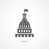 White house icon on white background