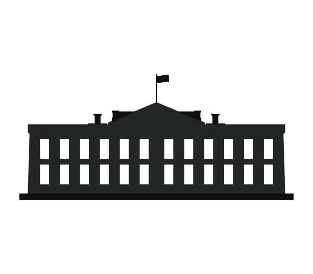 white house icon white house icon white house stock illustrations
