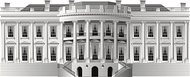 white house A highly detailed illustration of the US White House, home of the president. Simple gradients only, no gradient mesh. Note: This version has more detail than my previous white house illustration. white house stock illustrations