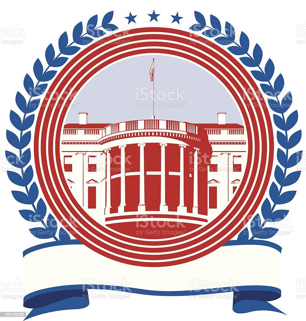 White House royalty-free stock vector art