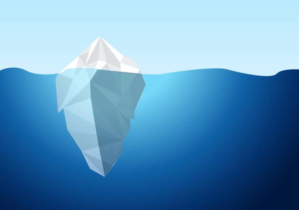 ilustrações de stock, clip art, desenhos animados e ícones de white iceberg on blue atlantic background vector. - iceberg
