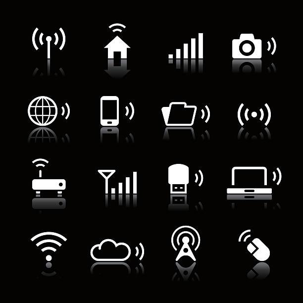 인명별 아이콘 세트/연락체계 & 무선 기술 - home icon stock illustrations