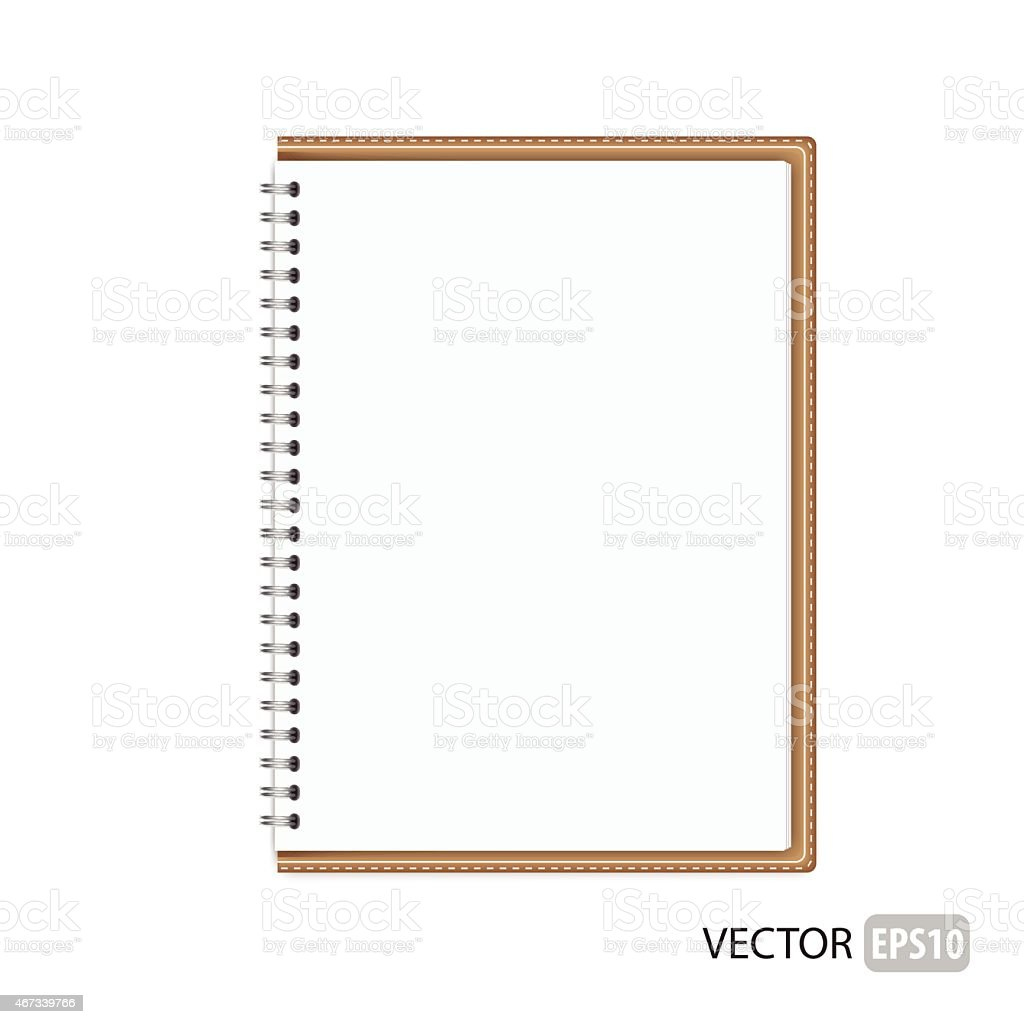 White isolated notebook vector vector art illustration