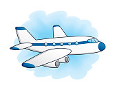 istock White jet airplane. 859300456