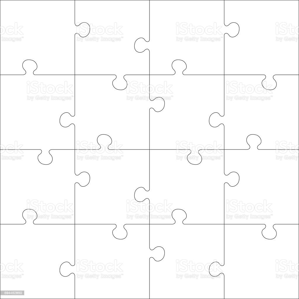 White Jigsaw Puzzle Puzzle Template Cliparts Vectoriels Et Plus D