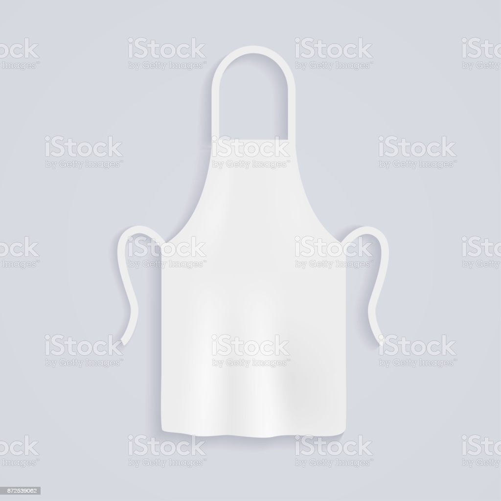 White Kitchen Aprons Chef Uniform For Cooking Vector Illustration ...