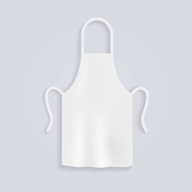 White kitchen aprons. Chef uniform for cooking. Vector illustration. vector art illustration