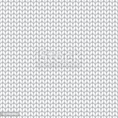 istock White Knitted Sweater Material Seamless Pattern 620989860