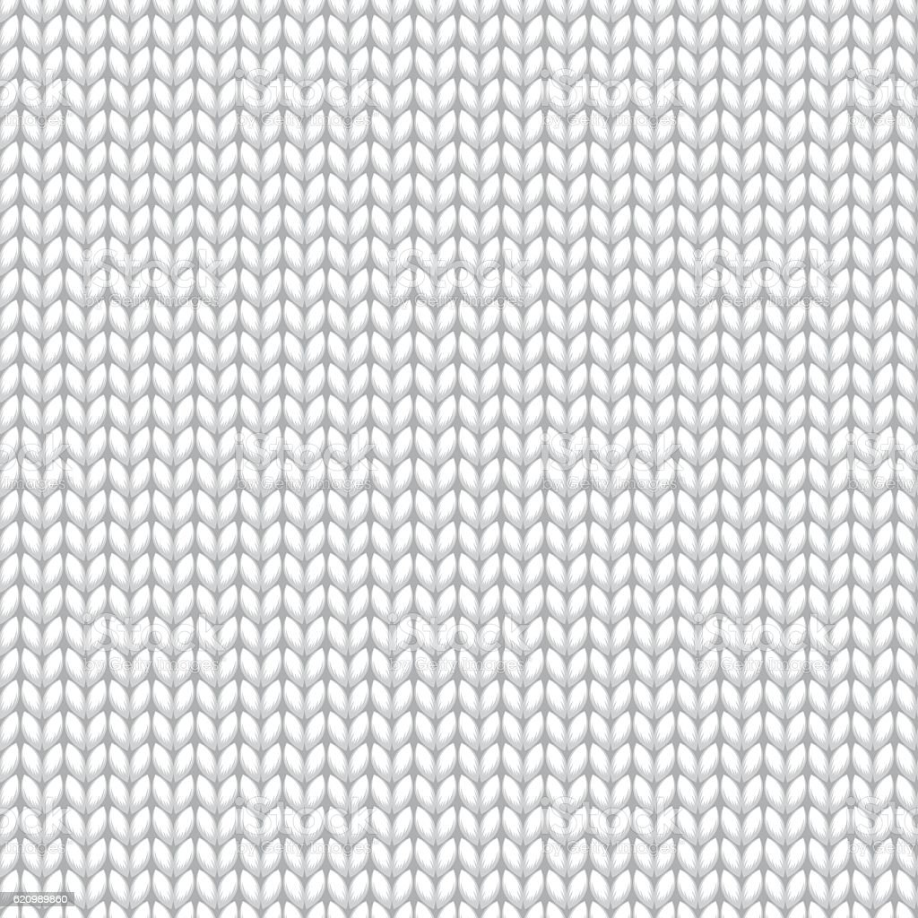 White Knitted Sweater Material Seamless Pattern vector art illustration